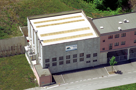 View of the production site in the industrial area of Lumezzane